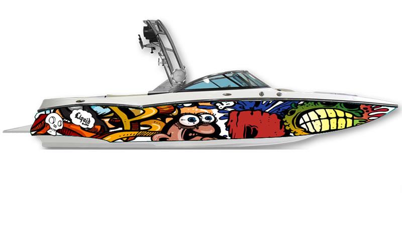 Ski Boats Boat Wraps Liquid Graffiti Of Murfreesboro